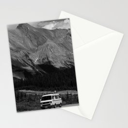 80's VW Van In The Mountains Stationery Cards
