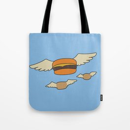 Bob's Burgers Flying Hamburger picture Tote Bag