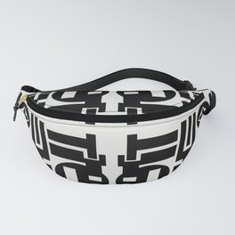 Black and White Design Fanny Pack