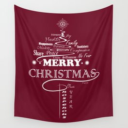 The Wishing Christmas Tree Wall Tapestry