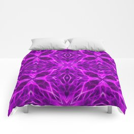 Abstract Geometric Light Factual Bright Fuchsia Comforters