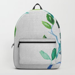Green and blue Backpack