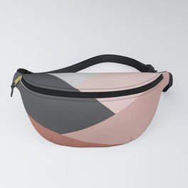 Elegant geometric design in brown Fanny Pack