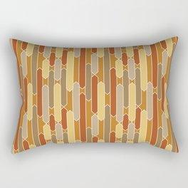 Tabs in Burnt Orange, Rust, Yellow and Tan Rectangular Pillow