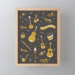 Spirit of Jazz in Grey Framed Mini Art Print