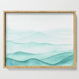Mint Mountains Serving Tray