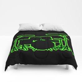 Neon Drum Kit Comforters