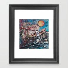 Two Travelers Framed Art Print