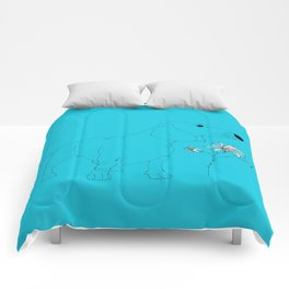 Blue Dachsund Love Comforters