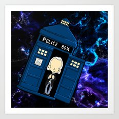 Tardis in space Doctor Who 1 Art Print