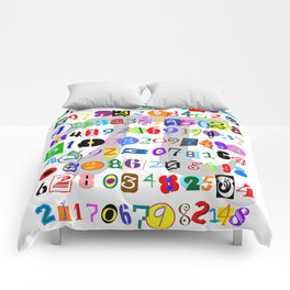 Colorful and Fun Depiction of Pi Calculated Comforters
