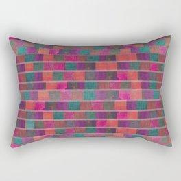 """Full Color Squares Pattern"" Rectangular Pillow"