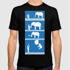 how to make your elephant fly Mens Fitted Tee Black MEDIUM