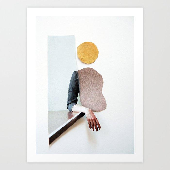 collage art / calmness Art Print