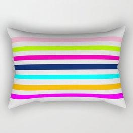 Modern neon colors geometrical whimsical stripes Rectangular Pillow