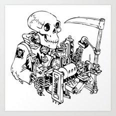 Grim Reaper - Power Scythe Art Print