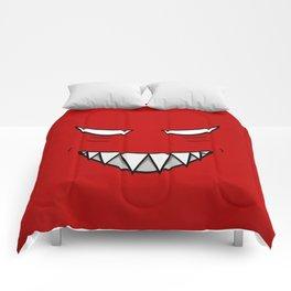 Evil Grin Evil Eyes Comforters