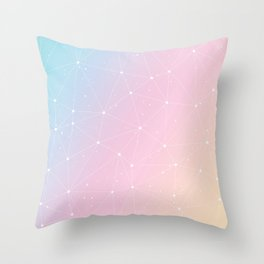 Rainbow Watercolor Astronomy Throw Pillow