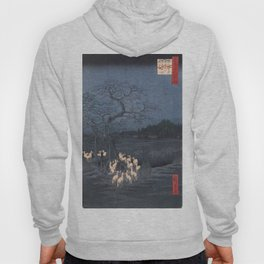 Utagawa Hiroshige - New Year's Eve Foxfires at the Changing Tree Hoody