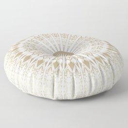 Khaki White Mandala Floor Pillow