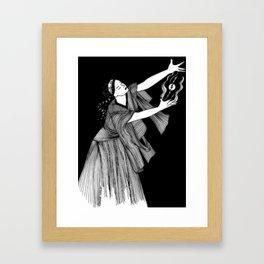 """Inktober, Day 27 """"Thunder"""" #inktober #inktober2018 Framed Art Print"""