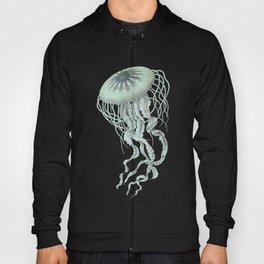 Jellyfish Underwater Aqua Turquoise Art Hoody