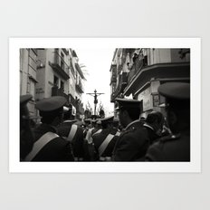 Holy Week Procession, Seville, Spain Art Print