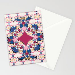 purple medalion in Persian tiles Stationery Cards