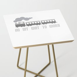 On My Way To Work - Commuter Retro Steam Train Side Table