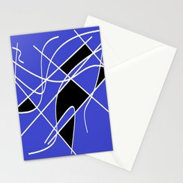 Black blue and white Stationery Cards