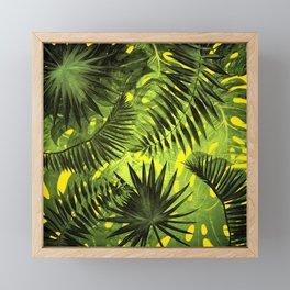 Tropical Leaves Aloha Jungle Garden Framed Mini Art Print