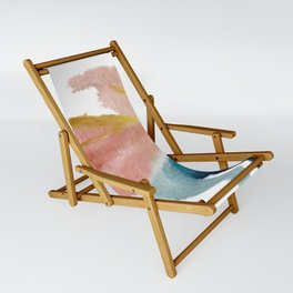 Exhale: a pretty, minimal, acrylic piece in pinks, blues, and gold Sling Chair