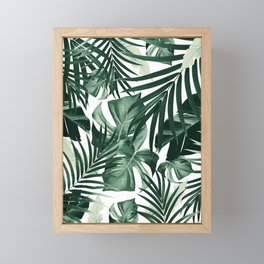 Tropical Jungle Leaves Pattern #4 #tropical #decor #art #society6 Framed Mini Art Print