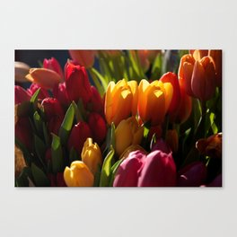 Flowers In The Market Canvas Print