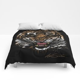 Tiger Face (Signature Design) Comforters