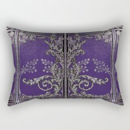 Blue and Silver Thistles Rectangular Pillow