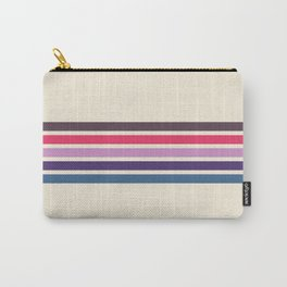 Five Trendy Stripes on White 17 Carry-All Pouch