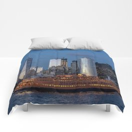 New York City at Night Comforters