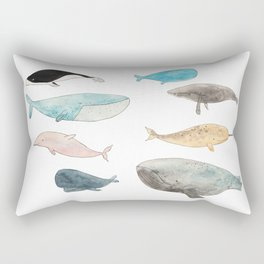 Group of whales Rectangular Pillow