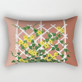 Black-Eyed Susans on Browns Rectangular Pillow