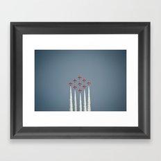 The RAF Red Arrows Flying High Framed Art Print