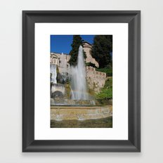 Tivoli Fountain Framed Art Print
