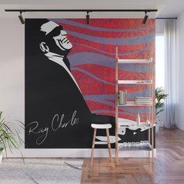 Retro Graffiti Ray Charles Jazz Poster Wall Mural