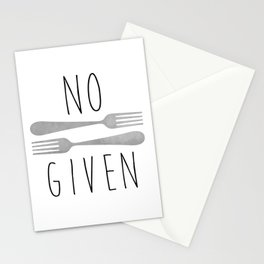 No Forks Given Stationery Cards