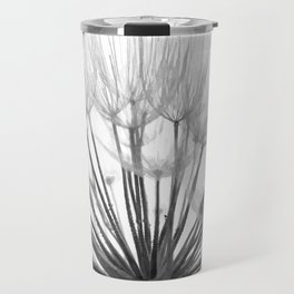 Black and White Dandelion Travel Mug
