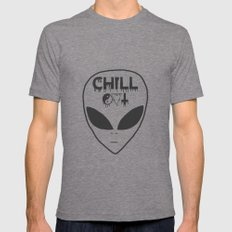 Chill Out Alien Tri-Grey Mens Fitted Tee 2X-LARGE