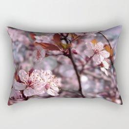 Cherry Plum Tree Pink Rectangular Pillow