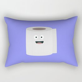 Toilet paper with face Rectangular Pillow