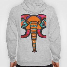 Floral & Tribal Print Elephant Head Hoody