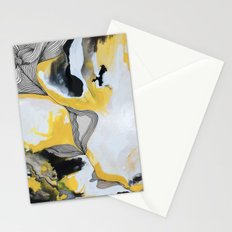 Veins  - Yellow Stationery Cards